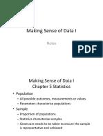 Making Sense of Data I Chapter 1 Notes