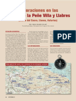 Exploraciones en las sierras de la Peñe Villa y Llabres (Sierra del Cuera, Llanes, Asturias)