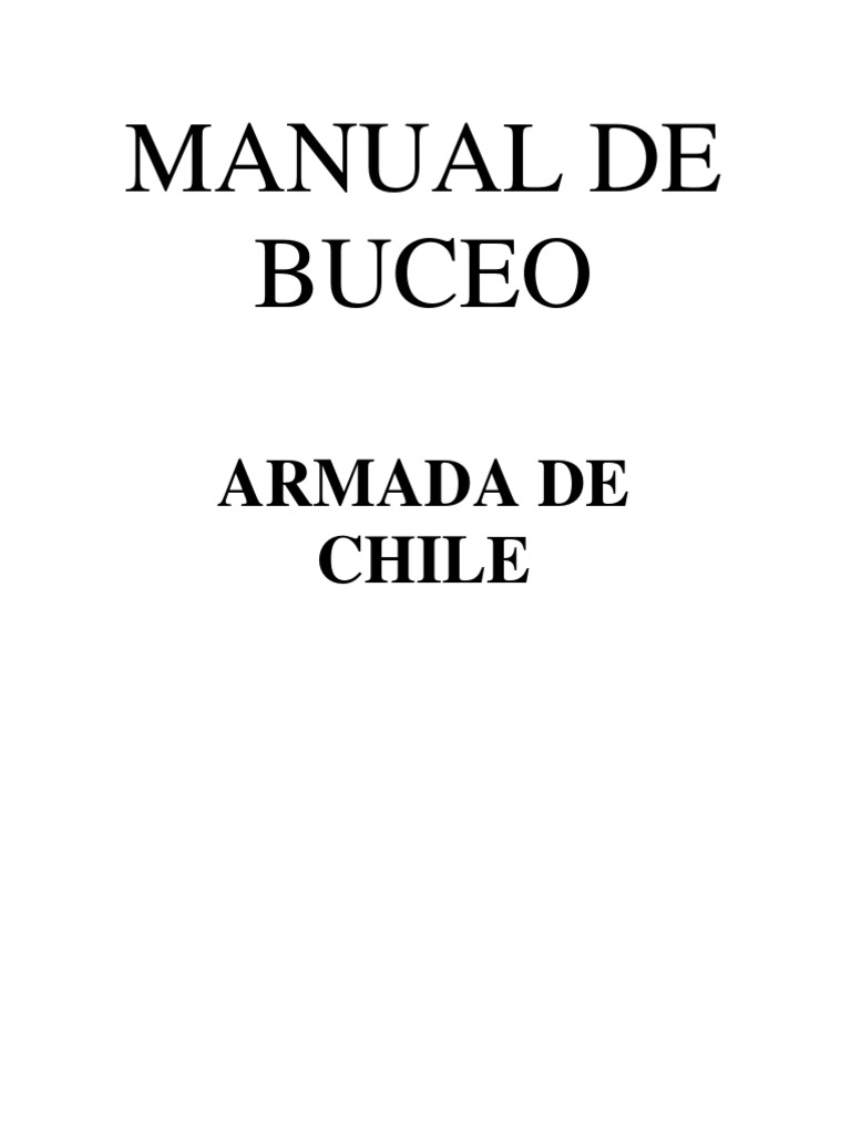 Manual de Buceo Armada de Chile