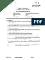 Soal Ujian Praktik 6018 P1 Akuntansi Komputer Akuntansi