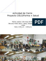 Cierre Proyecto Cielo 2017