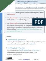 Lecon Phrase Simple Complexe