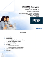 WCDMA Service Performance_withnotes
