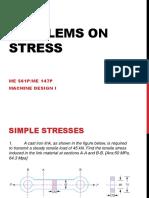 Problems on Simple Stress(Lec 4b)
