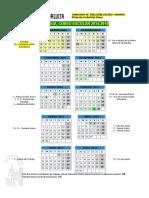 Calendario Escolar 2014-2015 Colegio El Tomillar