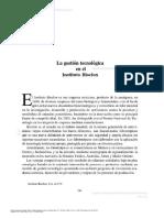 Caso- Gestion Tecnologica Instituto Bioclon