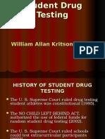 Student Drug Testing #1 - William Allan Kritsonis, Distinguished Alumnus, Central Washington University