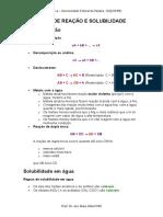 TIPOS DE REAÇÃO E SOLUBILIDADE.doc
