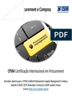 Certificação internacional em procurement - CPSM Certified Professional in Supply Management