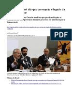 Jurista Espanhol Diz Que Corrupção é Legado Da Ditadura Militar
