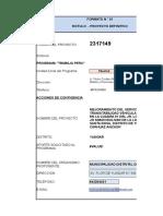 Formato Programa Trabaja Peru - Pavimentado Santa Rosa