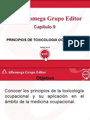 Principios de Toxicologia Ocupacional AGE ppt | Toxicología