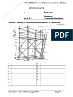 Question Paper for Scaffolding