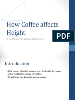 how coffee affects height