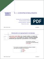 4.1. Convencionalismos