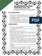 Bases Del Campeonato Futsal