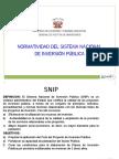 Normatividad y Marco Legal Del Snip