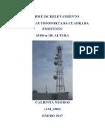 Informe de Relevamiento de Torre Existente_Calienta_Negros