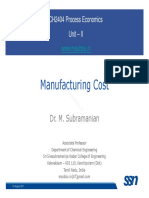 Eco Lecture 05 ManufacturingCost