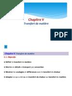 Chapitre 5 Mass Transfer
