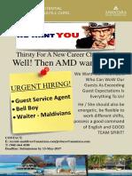 Job_advert_Maldives_ GCS Agent & Bell Boy