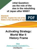 us role rebuilding japan