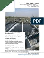 Inception Report on 78 MLD STP Dhandhupura Agra