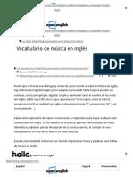 Vocabulario de Musica en Ingles - Aprender Ingles Con Musica _ Open English