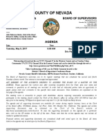 Nevada County Board of Supervisors May 9, 2017 Meeting Agenda