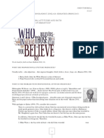 Propositional Attitude Predicates and Religious Faith