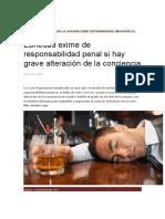 Grado de Alcohol en La Sangre Debe Determinarse Mediante El Método Widmark