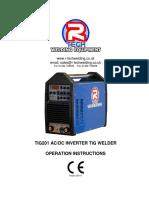 Tmp 25916-Tig Welder Owners Manual TIG201-1199476084
