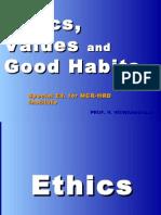 20100721 - Ethics, Values and Good Habits - MCR HRD Ed. -