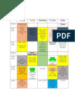 schedule week 10