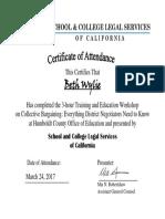 certificate of attendance - wylie