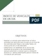 Indece de Vehiculos en Un Dia