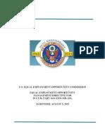 C4C upload of the U.S. EEOC Management Directive 110