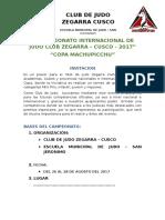 i Campeonato Internacional de Judo Club Zegarra