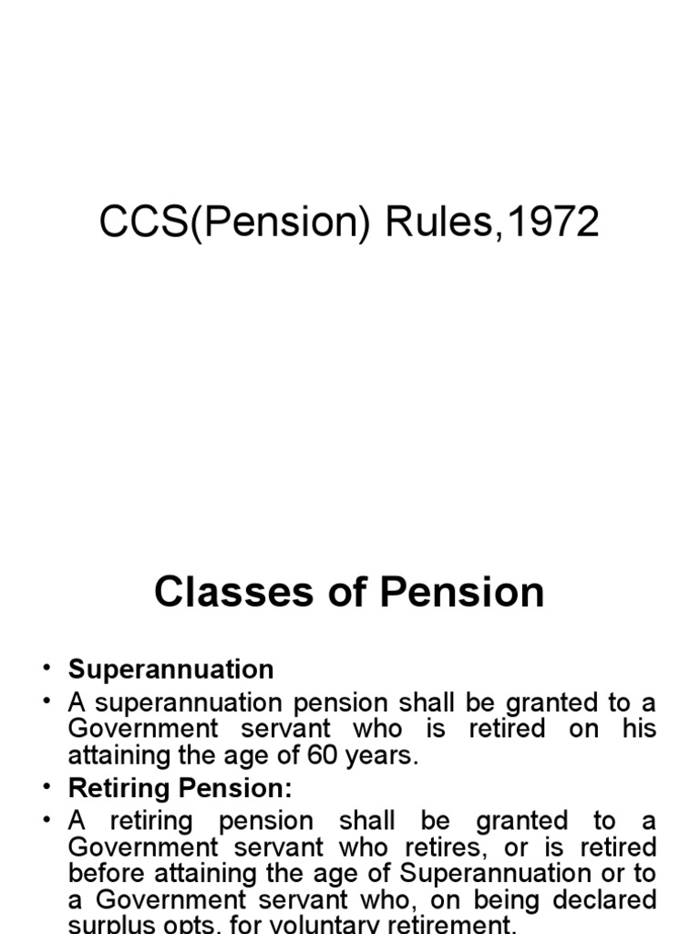 Ccs Pension Rules 1972 Pdf