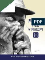 University Press of Mississippi Fall-Winter 2017-2018 Catalog of Books