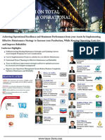 Global Forum on Total Maintenance and Operational Excellence 26 - 27 October 2017 AMSTERDAM - NETHERLANDS