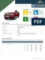 Euroncap Toyota Hilux Toyota Hilux Datasheet (1)