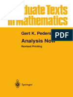 Analysis Now. G. K. Pedersen