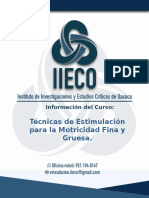 Temarío Técnicas de Estimulación para la Motricidad Fina y Gruesa. IIECO