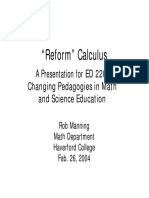Calculus Reform