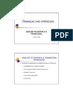 2. Análise Económica e Financeira
