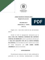 Stl4990-2017 Tutela No Procede Por Mora Judicial SALA LABORAL