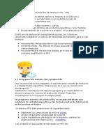 Unidad II Programa Maestro de Producción