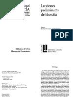 Garcia Morente, Manuel - Lecciones Preliminares de Filosofia