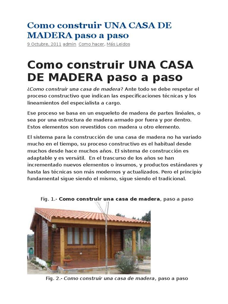 Como Construir Una Casa De Madera – Cecoc.info
